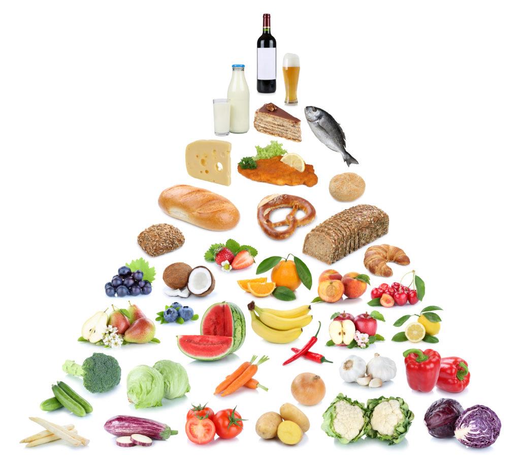 terveellinen ruokavalio infograafi